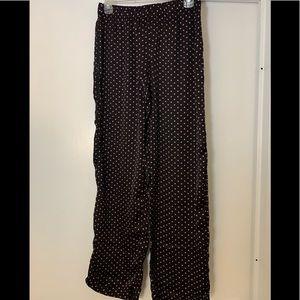 Silky, polka dot pajama pants